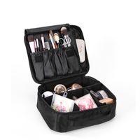 Wholesale double layer makeup bag resale online - Yesello Double Layer Organizer Makeup Bag Waterproof Professional Cosmetic Bag Women Travel Handbag