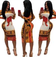 geleneksel basılı elbiseler toptan satış-Kadınlar Için yeni Varış Afrika Dashiki Elbise Geleneksel Giyim Seksi Baskı Polyester Afrika Giyim Kadın Giyim