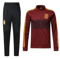 Wholesale spanish suit - New jacket 2018 Spain Soccer jacket training suit Top quality 18 19 Belgium Spanish jackets TRACKSUIT SPORTSWEAR free shipping