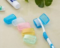 ingrosso tappi per spazzolini da denti-Copri testine in plastica portatile per spazzolino da viaggio Caso C161