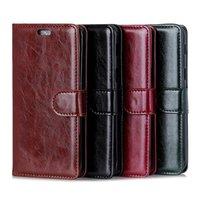billetera 3g al por mayor-Luxury Pull Up Leather Wallet PU Leather Case para Alcatel 5V 1X 3C 3V 5 1 3X U5 Plus A7 A50 DOL 5S Dol 5 U5 HD U5 4G Alcatel 7 U3 3G