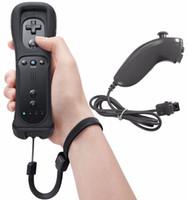 controller nunchuk großhandel-2-in-1 Wireless Remote Controller + Nunchuk Control für Nintendo Wii Gamepad Silikon Fall Bewegungssensor 20pcs / lot 3 Art