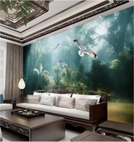 Wholesale mediterranean landscaping paintings resale online - 3d wallpaper custom photo Medieval hand painted tropical rainforest landscape tooling d wall murals wallpaper for walls d living room