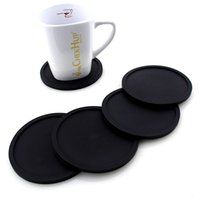 Wholesale furniture coffee tables - 5 Colors Silicone Coasters for Drinks - Rubber Table Cup Drink Coaster Coffee Mug Mat - Perfect To Protect Your Furniture