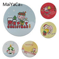 Wholesale size play mats - MaiYaCa Non Slip PC Cartoon Magoo Merry Christmas mouse pad gamer play mats Size for 200x200x2mm and 220x220x2mm Round Mousemats