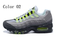 Wholesale Mens Style Cheap - 2018 New style Sports 95 Running Shoes Men Cheap Black White Mens Trainers Sneakers Fashion Man athletic Walking training shoes