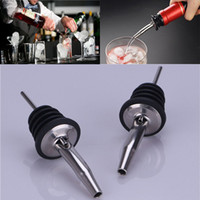 Wholesale stainless steel whisky bottle - 2018 Stainless Steel Whisky Wine Mouth Wine Bottle Pourer Head Tool Home Bar Party Bartending Mouth Accessories DHL Free WX9-251