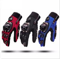 мотоциклетные байкерские перчатки оптовых-RO-Biker Мотоциклетные перчатки Противоскользящая защита рук moto Велоспорт Перчатки для мотокросса Racing Armored Glove 3 COLOR KKA4265