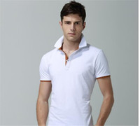 Wholesale buy white polo for sale – custom Brand designer Value Buy Mens Casual Polo T Shirt Brit Style Cotton Tee Shirts Short Sleeve Summer Leisure Sport Shirts Spring Autumn Brand