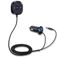 joueur achat en gros de-Voiture Lecteur MP3 Adaptateur Audio Transmetteur FM Bluetooth Mains Libres FM Stéréo Soutien U Disque TF pour iPhone XR X Android # E03