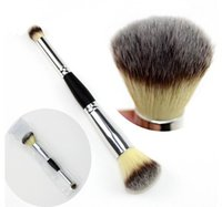 Wholesale maquillage cosmetics resale online - Double Ends Makeup Brushes Multipurpose Powder Eyeshadow Blush Brush Make Up Contour Synthetic Hair Cosmetic Brush Kit Pinceis Maquillage
