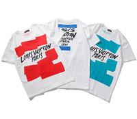 Wholesale yeezus shirt xl - Summer Vetement men, women tide card Fear of God T-shirt letter printing Yeezus high quality cotton y-3 T-shirt