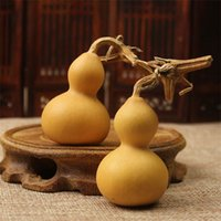 Wholesale wood pendants china resale online - Natural Gourd With Dragon Head Mini Artifact Ornament Pendant Man Woman Handicrafts Gourds Arts Crafts Gifts wx bb