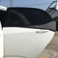 mesh window covers NZ - 2xCar 113x51cm Window Cover Sunshade Curtain UV Protection Shield Visor Mesh Dust