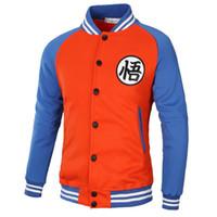 agasalho de beisebol venda por atacado-Marca Dragon Ball Z Moletom Com Capuz Camisola Cosplay Jaquetas Homens hoodie Goku Kame Símbolo do Colégio Jaqueta De Beisebol Dos Homens Treinos 3XL S18101704