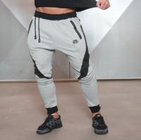 ingrosso corti pantaloni da jogging-Pantaloni sportivi da jogging lunghi Pantaloni sportivi da fitness in cotone elasticizzato Pantaloni da jogging per il fitness