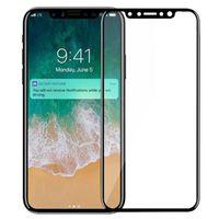 iphone explosionsgeschützte glas großhandel-Für iphone x gehärtetes glas 3d 9 h fullscreen abdeckung explosionsgeschützte displayschutzfolie für iphone 8 plus 7 6 6 s se 5 5 s 5c