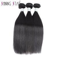 Wholesale dhgate indian remy hair online - remy human hair extensions shining star straight human hair bundles on dhgate peruvian brazilian hair weft