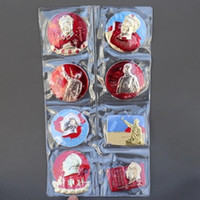 Wholesale 8pcs Nostalgic collection aluminum badge medal badge red armbands badge with sb on it suits to cm diameter on the r