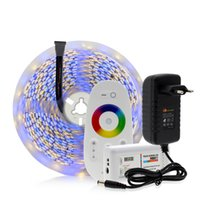 Wholesale neon controller resale online - 5050 LED Strip RGB RGBW RGBWW M LEDs Neon Tape Light G Remote Controller DC V A Power Adapter