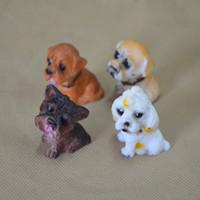 ingrosso miniatura di giardino della casa della bambola-1 pz Cani Statua Dollhouse Stuff Per La Casa Soggiorno Decor Garden Miniature Artigianato Cartoon Kawaii Figurine Fata Decorazione 0 9lw Z