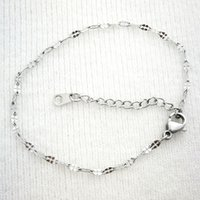 Wholesale Silver tone Elegant Women lady girls Bracelet ankle chain cm cm gift jewelry never fade B200