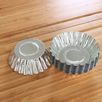 Wholesale aluminum mould - Aluminum Egg Tart Mould DIY Cake Cookie Mold Baking Pastry Tools Kitchen Accessories 0 19kn C R