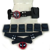 Wholesale cosplay faux leather - Deadpool Costume Cosplay X-Men Superhero metal Belt buckle adjustable Accessories Costume Anime Movie Cosplay Props