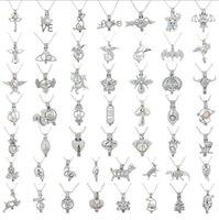 серебряные монеты оптовых-Новые моды Love Bird Star Pearl Кейджа Серебряный кулон Выводы Клетка Эфирное масло Диффузор Медальон для Oyster Pearl Fiber Шаровые девушки женщины