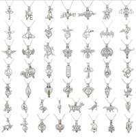 mode vögel silber großhandel-Neueste Art und Weise Liebes-Vogel-Stern-Perle Cage-Silber-Anhänger-Entdeckungen Cage Ätherisches Öl Diffusor Medaillon Für Oyster Perlen Fiber Ball Girl Frauen