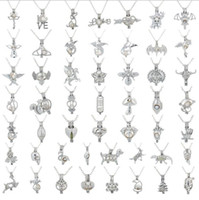ingrosso uccelli di moda argento-Nuovi risultati Cage moda dell'uccello di amore della perla della stella della gabbia pendente d'argento olio essenziale diffusore Locket Per Silver Pearl fibra della sfera della ragazza delle donne