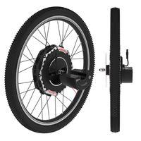 elektrikli batarya 24v toptan satış-24V350W hub motor bisiklet için imortor hepsi bir elektrikli tekerlekli motor e bisiklet dönüşüm kiti ile 2 pil bisiklet motor kiti