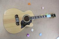 acústica personalizada venda por atacado-Frete grátis Custom Shop Venda Quente Dot Spruce Bege 6 Cordas Guitarra Acústica Elétrica Com Pickups Pescador em estoque