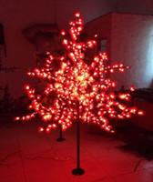 árvore de bordo do natal venda por atacado-LEVOU Artificial Maple Tree Light Luz de Natal 672 pcs Lâmpadas LED 1.8 m / 6ft Altura 110 / 220VAC Uso Ao Ar Livre À Prova de Chuva Frete Grátis