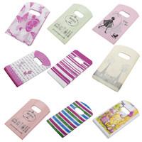 Wholesale Random Shops - 50pcs lot Random Pattern Shopping Bags Mini Plastic Gift Bags For Birthday Gift Package 9 x 15cm