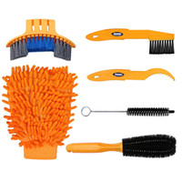 Wholesale Cycling Cranks - 6pcs Bike Bicycle Clean Brush Kit  Cleaning Tools for Bike Chain Crank Tire Sprocket Cycling Corner Stain Dirt Clean, Fit All Bike