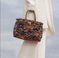 Wholesale New Arrival Winter Shoulders Handbag - New Arrival knitting Totes Large Women Handbag Shoulder Bag Autumn Winter Woolen Bags 2017 Free Shipping No267