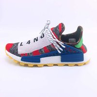 25317b6fe with boxes Pharrell Nmd Hu Trial Solar Pack Designer Shoes 2018 Pharrell  Williams Nmds Human Race Large code Mens Running Shoes Eur 36-47