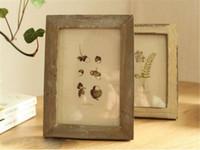 marcos de fotos de madera en casa al por mayor-Hot Home Arts Craft 5 colores de calidad marco de fotos de época decoración del hogar Retro de madera par de recomendaciones de boda cuadros marcos regalo ornamento