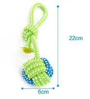 Wholesale Cartoon Dog Games - 2018 New Arrival 1pc Pet Chews Dog Toys Rope Dog Games Knot Ball Toys For Small Dog Grinding Teeth Cleaning Modeling Miansheng Weaving 1Pcs