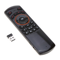 Wholesale computer remote controller - Portable 2.4Ghz Fly Air Wireless Keyboard Mini Computer Keyboard Remote Controller Mouse and 3D Motion Sense for Android TV Box