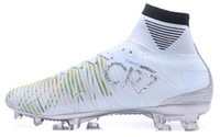 Wholesale cheap white shoes gold spikes - Discount Cheap CR7 Mercurial Superfly Chapter 5 Football Shoes, Mercurial Superfly V CR7 FG Training Sneakers Cleats, Running Sport Boots