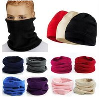 Wholesale snood for sale - Group buy Multifunctional Scarf Unisex Men Women Fleece Thermal Snood Hat Neck Warmer Ski Scarf Beanie Balaclava Cycling Scarves Windproof Hats