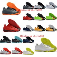 Wholesale neymar turf boot for sale - Group buy 2018 mens indoor soccer shoes new soccer cleats hypervenom cleats football boots HypervenomX Finale II IC TF Turf shoes neymar boots