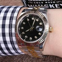 Discount women gold mechanical watches - 40mm relogio masculino mens watches Luxury wist fashion Black Dial With Calendar Bracklet Clasp Master Male women giftluxury Watches