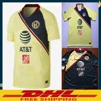 Wholesale wholesalers america - DHL Free shipping 2018 2019 LIGA MX Club America soccer Jerseys home away 18 19 Club America soccer Jerseys Size can be mixed batch
