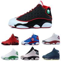 precio de los zapatos rojos al por mayor-[Con la caja] Zapatillas de baloncesto para hombre al por mayor XIII 13 Bred Black True Red Sports Zapato atlético Zapatilla deportiva El mejor precio Zapatillas deportivas