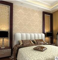 yatak odası duvar kağıdı çevre toptan satış-91911 Avrupa kabartma, oturma odası TV, arka plan duvar kağıdı, bej yatak odası, Şam çevre duvar kağıdı