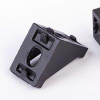 impresora de aluminio al por mayor-FLSUN 12 UNIDS / LOTE Metal Frame 3D Printer Parts 2020 Aluminum Profile Corners Screws Set 2028 Esquinas Reforzado Corchete