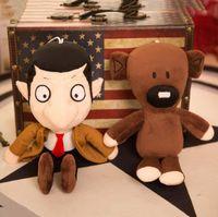 Wholesale bean movie online - 30cm soft plush doll creative Mr Bean teddy bear cute cartoon plush doll funny novelty doll baby toy KKA5639